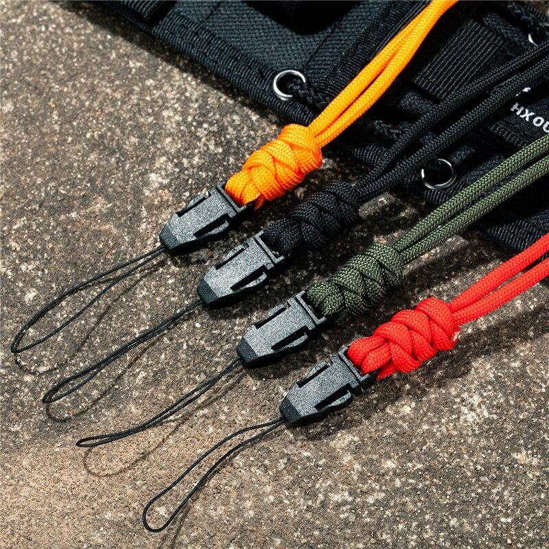 Multi-function Paracord Survival neckband lanyard ID card gym neckband phone with Knife Flashlight USB ID holder DIY neckband
