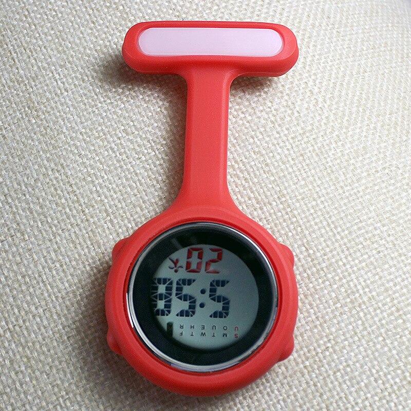 Часы для медсестры карманные часы силиконовые электронные светящиеся календарь желе часы модный тренд
