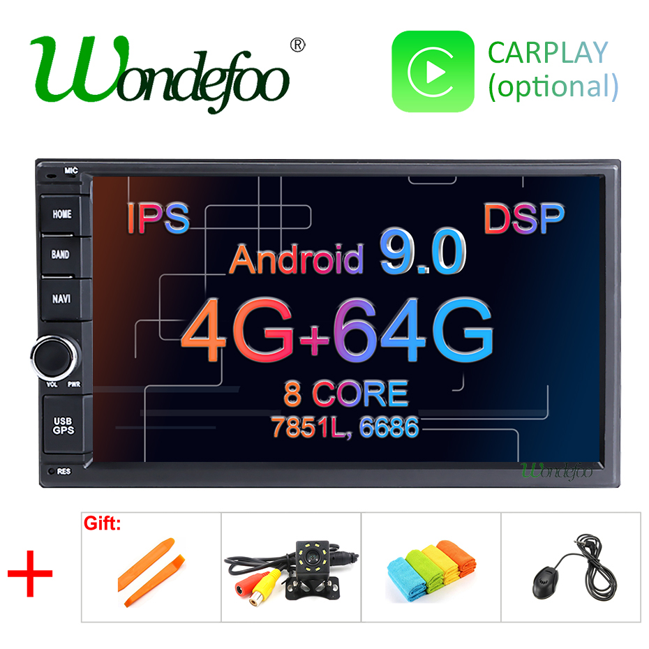 "DSP IPS 4G 64G Android 9.0 Universal 2 din auto Multimedia Player car radio 2din Stereo 7"" car Player Auto Radio for nissan-in Car Multimedia Player from Automobiles & Motorcycles    1"