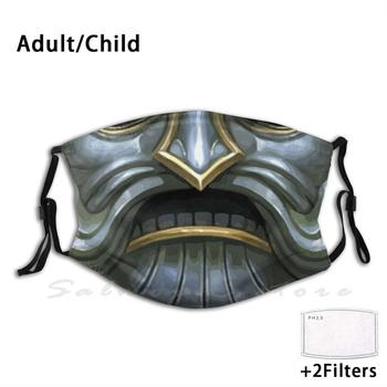 Dwarf Helmet Adult Kids Anti Dust Filter Diy Mask War Emperor Sigmar Age Of Sigmar Heraldy Coat Of Arms Aos Chaos Mechanicus image