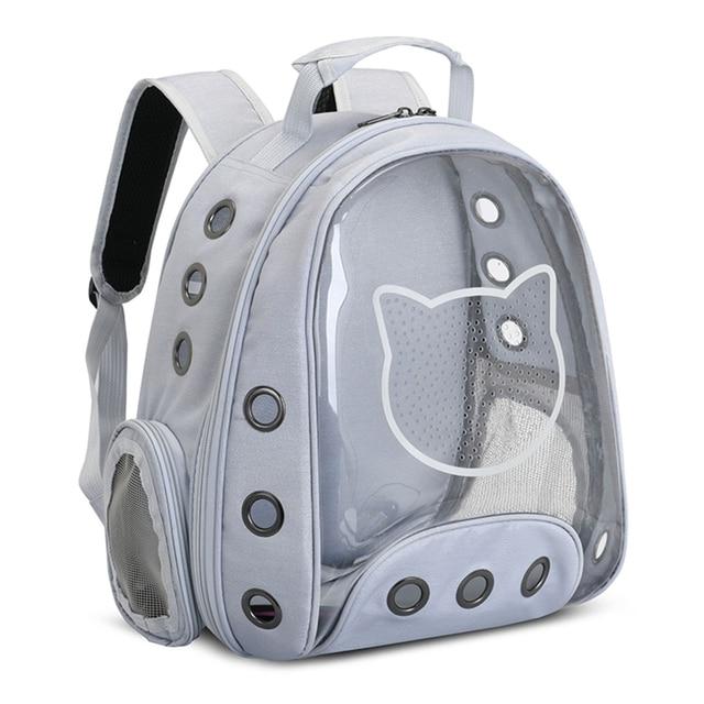 прозрачный воздухопроницаемый панорамный рюкзак в виде капсулы фотография