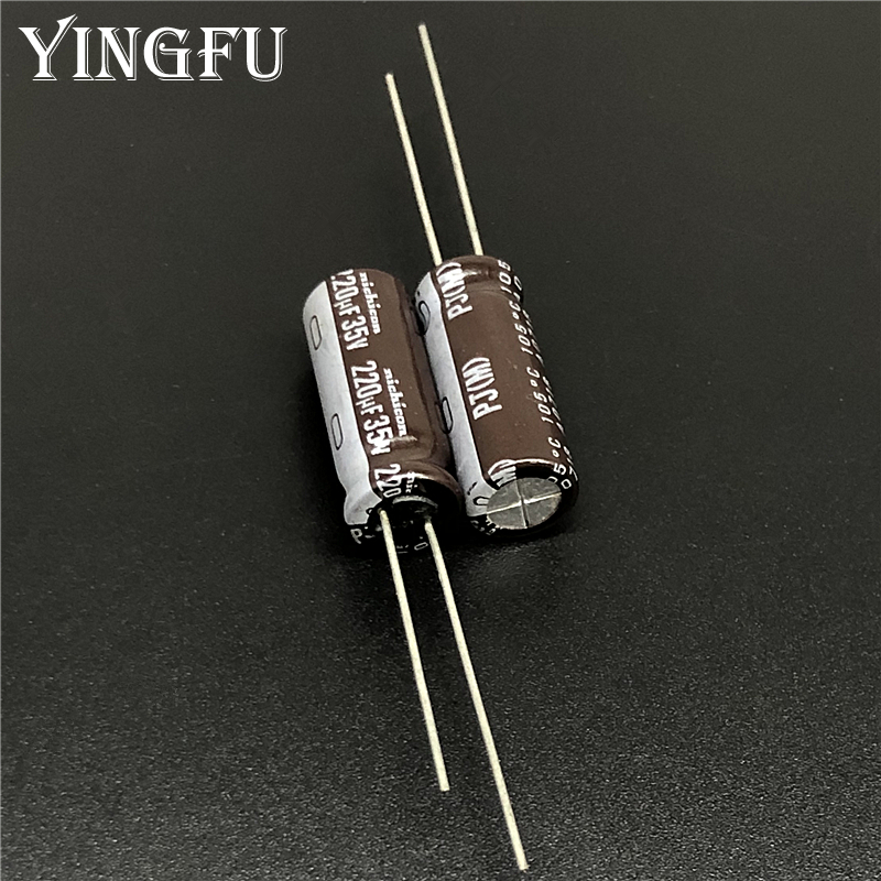 10pcs 220uF 35V NCC KY Series 8x15mm Low ESR 35V220uF Electrolytic Capacitor