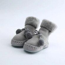 Socks Shoes Baby 3-To-18-Months Anti-Slip Newborn Butterfly Winter Children Warm Autumn