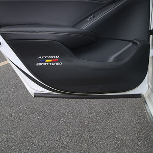 Image 4 - Anti dirty anti kicking the door mat mat For 10th Honda Accord 2018 2019 interior conversion decorative accessories Leather door