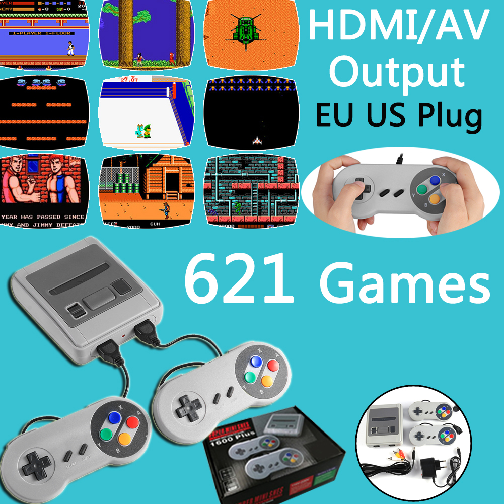 Portable console Home TV Video Game 8Bit Video Game Console AV Output Handheld Gaming Player Built-in 621 Games Home Gaming 2021