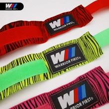 Venda quente 1 par 3m/5m padrão zebra boxe handbandage bandagem puncionamento mão envoltório luvas de treinamento de boxe ginásio acessório