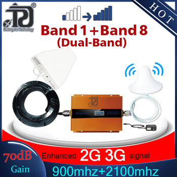 2G 3G Cellular Amplifier 900mhz 2100mhz Dual Band Repeater gsm900 Mobile Signal Booster 3G WCDMA 2100