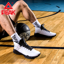 Peak Men Basketball Shoes Leather Upper Wearable Breathable Sports Shoes Non-slip Cushion Support Outfield Basketball Sneakers цена 2017