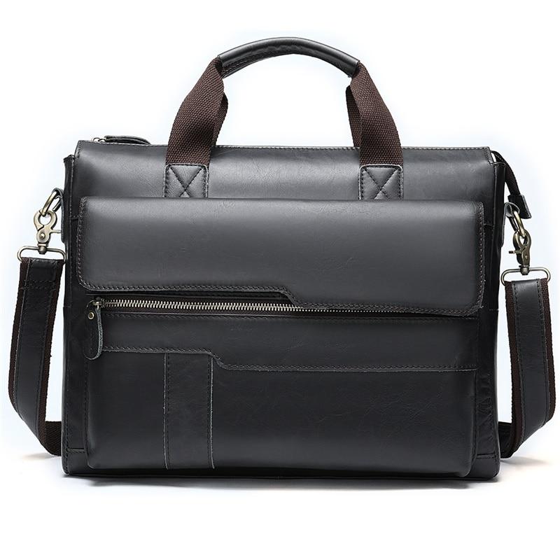 Men Messenger Bags Leather Men's Briefcases Genuine Leather Briefcase For Mens Handbag Laptop Bag For Men Briefcase Computer Bag