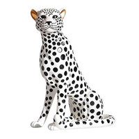 Yayoi Kusama Wave Point Simulation Cheetah Resin Art&Craft Leopard Statue Creative Large scale Animal Home Decorations