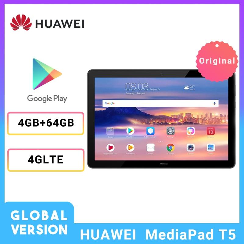 Global Version HUAWEI Mediapad T5 10.1 Inch 4G LTE New Tablet 1080P Full HD 4GB 64GB Kirin 659 Octa Core Fingerprint Android 8.0