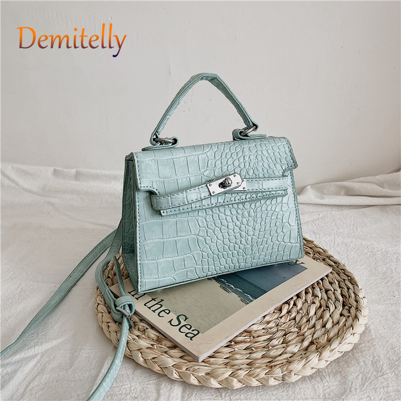 New Texture Retro Shoulder Messenger Bag Fashion Crocodile Pattern Portable Women's Bag High Quality Anti-wear Nail Ladies Bag