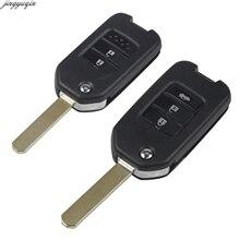цена на 2/3 Button Uncut Blade Flip Folding Car Key Auto Flip Key Shell For Honda Civic City Fit XRV Vezel Car Remote Key Fob Case Cover