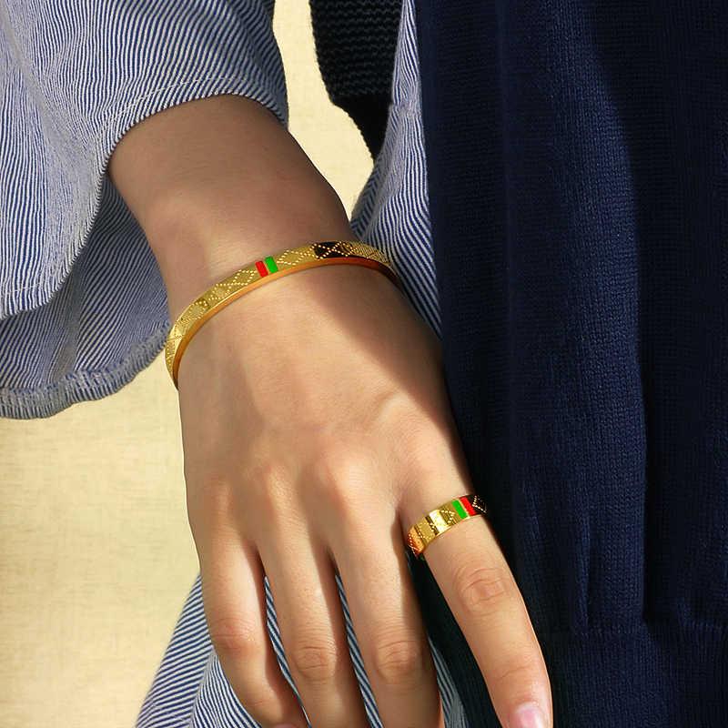 Baoyan Berühmte Marke Schmuck Großhandel Edelstahl Schmuck Set Ring Halskette Armband Ohrringe Hochzeit Schmuck Sets Für Frauen