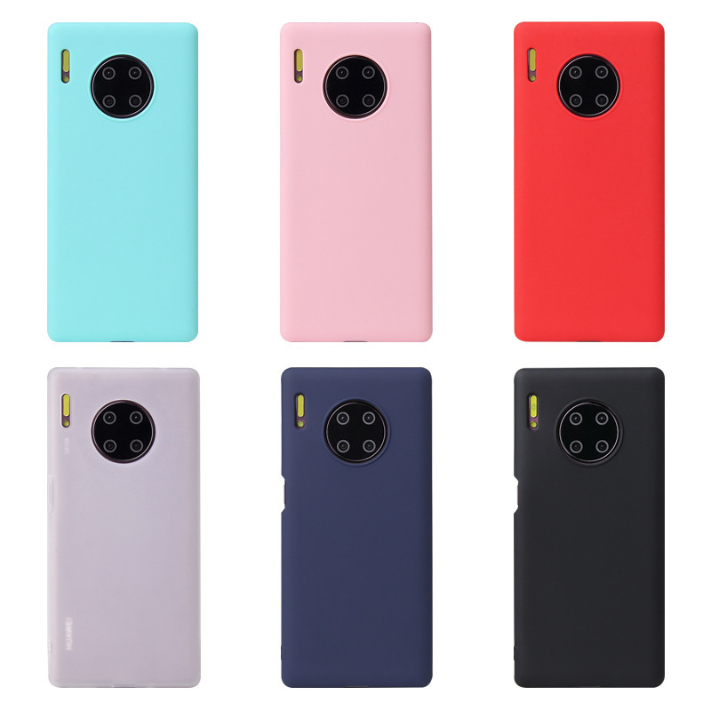 Candy Color Silicone Phone Case For Huawei Mate 30 Pro Mate30 Matte Soft Tpu Back Cover For Huawei Mate 30 Pro