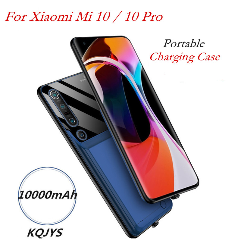 10000mAh Portable Phone Battery Charger Case For Xiaomi Mi 10 Power Bank Case For Xiaomi Mi 10 Pro Backup Battery Charging Cover