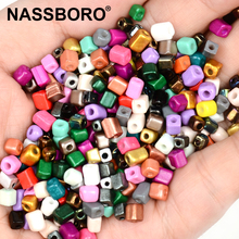 Approx.4mm Cube Beads Charms Candy Czech Glass Square Kralen Gold Silver for Jewelry Making Diy Bracelet Accessories