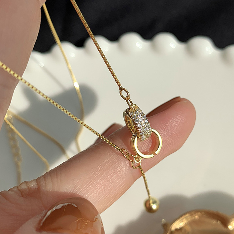 Hot 925 Sterling Silver Circle Necklace Female Shiny Small Round Bead Pendant Exquisite Choker Party…