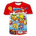 Новая мода игры летняя футболка с коротким рукавом и О-образным вырезом Футболка Superzings футболки для маленьких мальчиков, повседневная одеж...