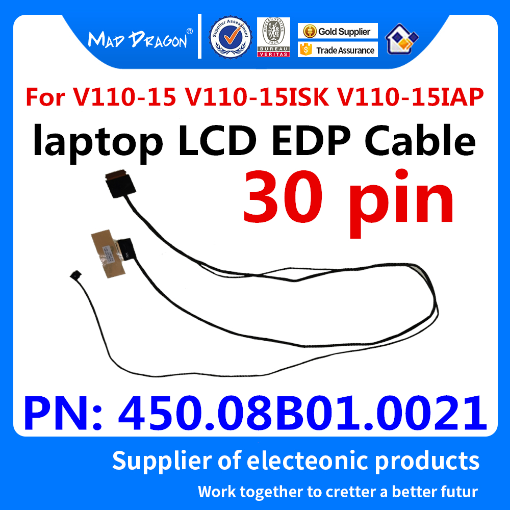 Laptop NEW Original LCD LVDS SCREEN FLEX Cable LV115 IPAL LCD EDP Cable For Lenovo V110-15 V110-15ISK V110-15IAP 450.08B01.0021