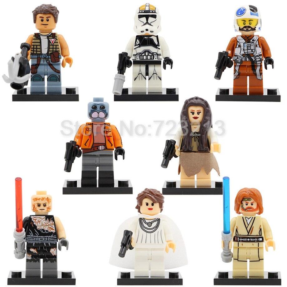 Figure Zander Baba Mon Mothma Obi Wan Kenobi Anakin Leia Clone Trooper Cunner Building Blocks Toy X0144 Legoing