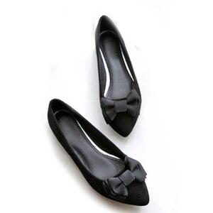 Image 3 - BEYARNEDrivingกระเป๋ารองเท้าผู้หญิงแบนรองเท้าสุภาพสตรีรองเท้าแตะสีดำและสีม่วงโบว์PLUSขนาดใหม่ARRIVAL SLIPสำหรับPARTY
