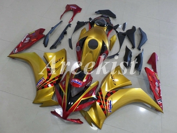 New ABS Injection Mold aftermarket Motorcycle Fairings Kit Fit For Honda CBR1000RR 2012 2013 2014 2015 bodywork Golden Red