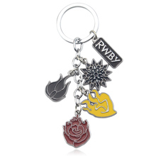 New RWBY key chain Pendant Metal key ring keychain Cosplay Otaku Kids Gift