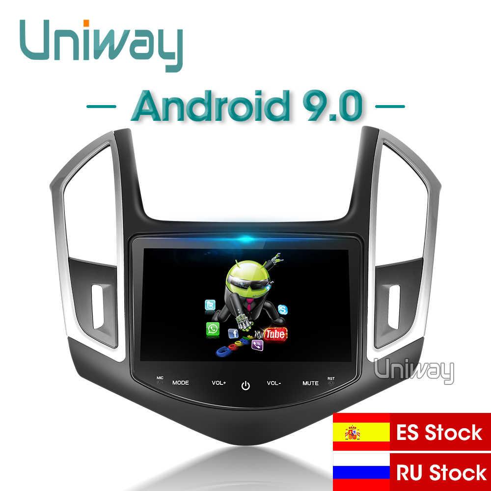 Uniway AXKLZ8071 2 din アンドロイド 9.0 車の dvd シボレークルーズステアリング 2013 2014 2015 カーラジオの gps ナビゲーションホイール