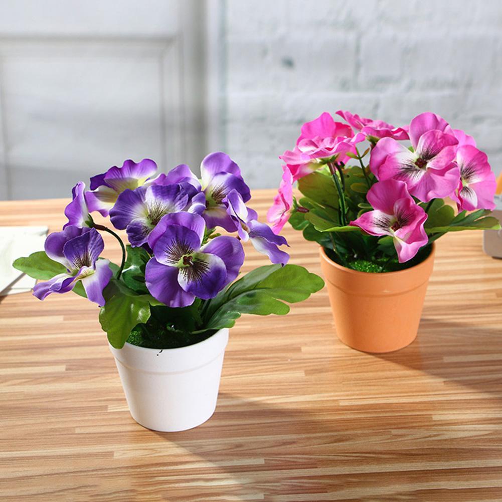 1 шт. Искусственный Цветок анютины глазки завод Бонсай домашний офис сад стол