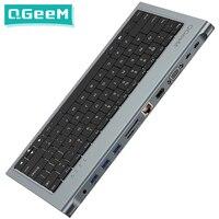 QGeeM-Tastatur-Dockingstation USB-C-Hub-Adapter für Macbook Pro Air 2020 13 Xiaomi 11-IN-1-Hub-Dock Typ C Multi-Ports USB-Hub 3.0-Splitter HDMI-VGA-SD-Micro-SD-Kartenleser RJ45-Gigabit-Ethernet-3,5-mm-Aux-PD-Ladegerät