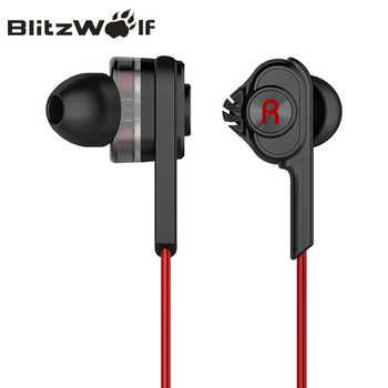BlitzWolf 3.5mm Wired Earphone With Mic In-ear Earbuds Earphones With Microphone Universal For Samsung For iPhone 6s Smartphone - DISCOUNT ITEM  41% OFF All Category