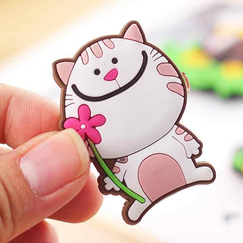 1 PC Lucu Kartun Hewan Magnet Kulkas Kucing Domba Jerapah Pohon Mobil Es Krim Pola Kulkas Microwave Dekoratif