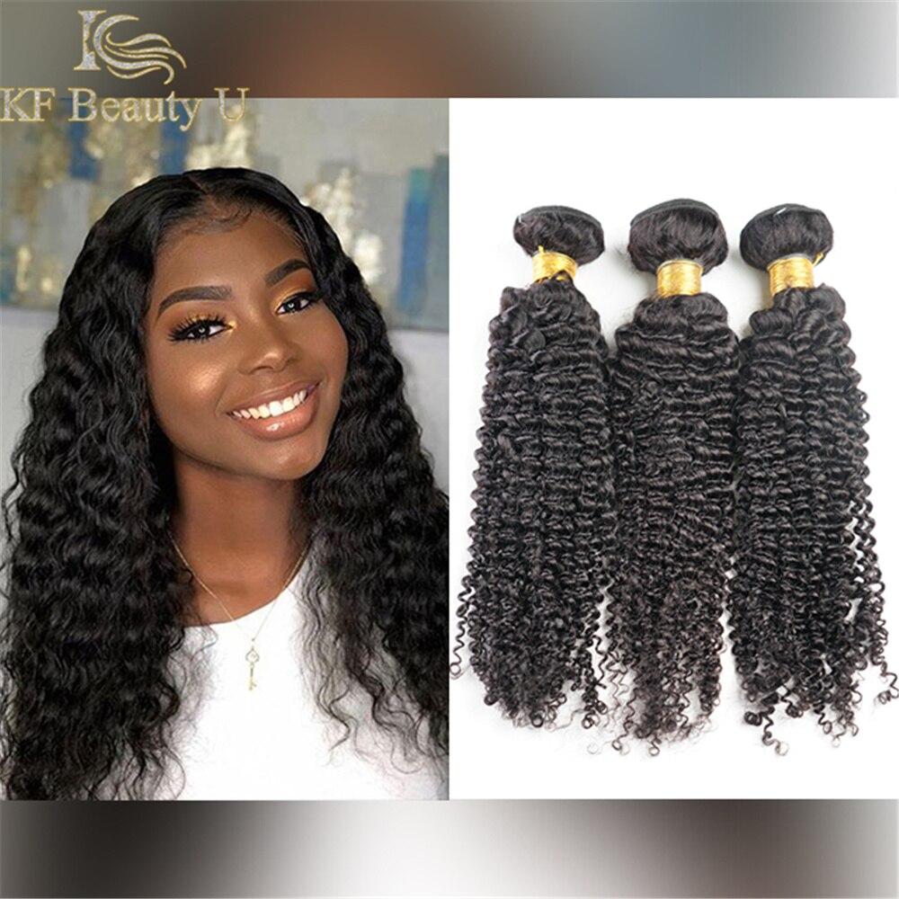 Fasci di capelli umani ricci crespi i capelli vergini grezzi possono essere tinti cucire nelle estensioni dei capelli 6
