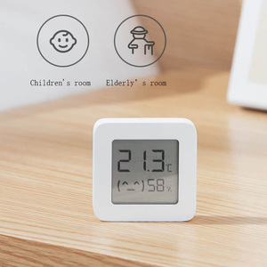 Image 3 - شاومي Mijia بلوتوث ميزان الحرارة الرقمي 2 اللاسلكية الذكية درجة الحرارة الرطوبة الاستشعار شاشة LCD الرقمية الرطوبة متر