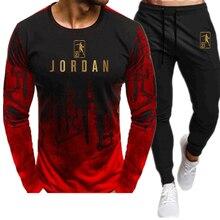 Pour hommes chauds ensembles t-shirt + pantalon deux pièces ensembles de survêtement de sport de basket-ball nouvelle mode impression costumes sportswear fitness chemises