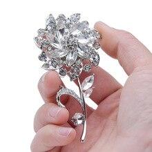 Creative Romantic Bridal Rhinestone Corsage Artificial Pearl Flower Pin Brooch Wedding Supplies цена 2017