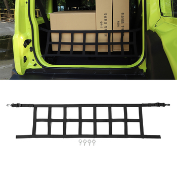 Rear Trunk Isolation Network for Suzuki Jimny 2019+ Car Interior Accessories Trunk Organizer Cargo Net Oxford Cloth for Jimny