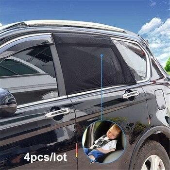 4 sztuk/paczka samochód parasol przeciwsłoneczny boczne okno ochrony przeciwsłonecznej anty-moskitiera dla dzieci lato ochrona przed promieniowaniem UV blok uniwersalny dla BMW VW