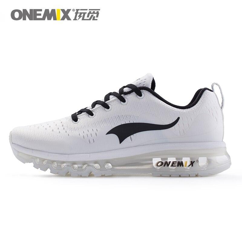 ONEMIX Sapatos Femininos Esportes Tênis Mulheres de Amortecimento Tênis de corrida Almofada de Ar Respirável Malha Vamp Malha Para Sapatos de Caminhada Ao Ar Livre