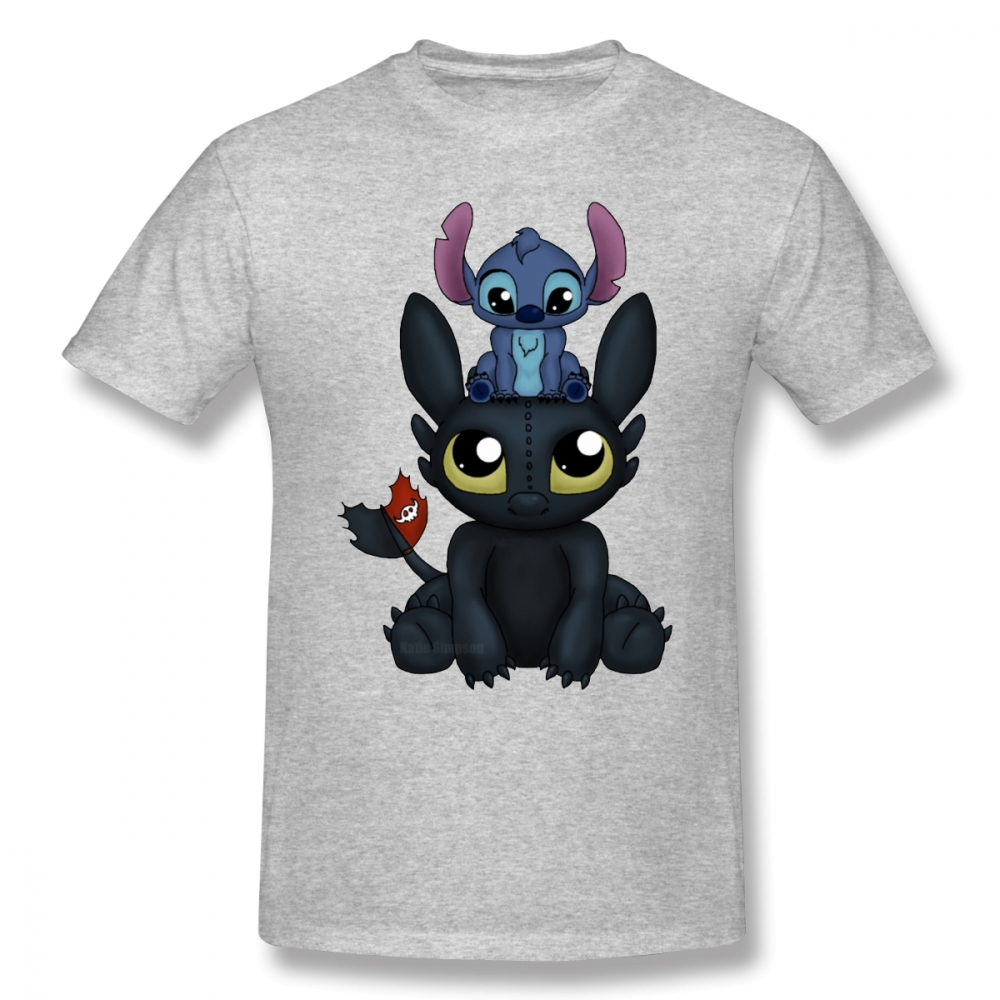 Lilo Stitch T Shirt Can I Sit Here T-Shirt Short-Sleeve Printed Tee Shirt Man Basic Funny 100% Cotton Oversize Tshirt