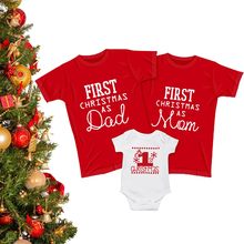 Family Outfits Matching-Clothes Merry-Christmas Baby Son-Daughter Romper First Mom Infant