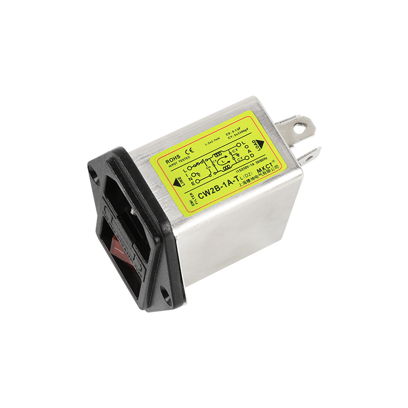 115V 230V Lighted AC Filter Communication Audio Power Supply Filter EMI Anti-interference CW2B-1A-TL(D2) 3A 6A 10A