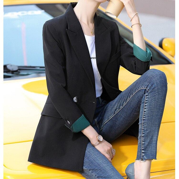 Fashion Designs Slim Blazer Women Pink Jacket Women Casual Black Outwear Summer Classic Lady Office Double Breasted Suit Blazer