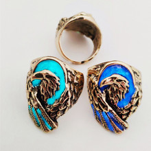 glow ring world of openings alloy noctilucent restoring ancient ways Angel wings male eagle rings exaggerated accessories