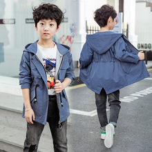 Spring Autumn Solid Boys Clothes Children Jacket for Boy Casual Pocket Coat Tops 4-12 Y Active Baby Clothing