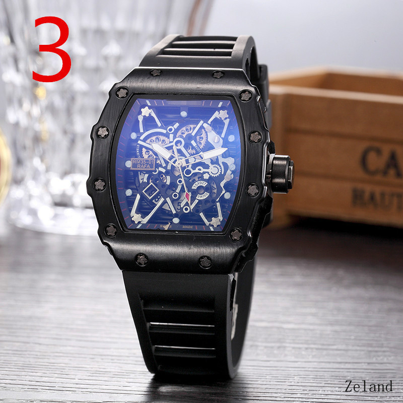 New RM Richard Luxury Limited Edition Quartz Watches Mille Mens Automatic Watch Men's Water Resistant Wristwacthes Reloj Hombre