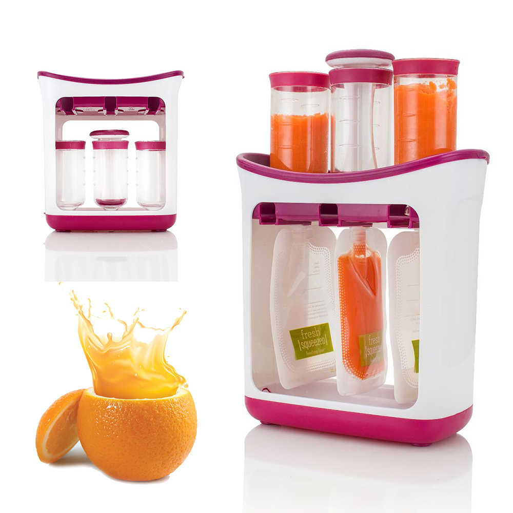 Baby Food Maker Squeeze Organic Food Machine Kids Fresh Fruit Juice Feeding Containers Storage Newborn Breast Milk Storage Bag
