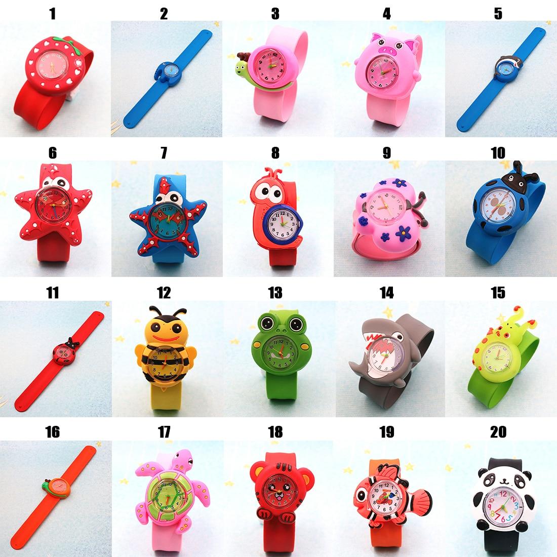 Silicone Cartoon  Children Watch Cute Waterproof Children Toddler Wrist Watch Gift For Girl Boy Student