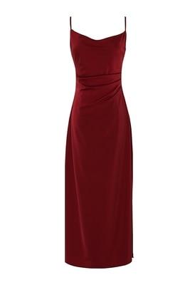 Женское платье с открытой спиной, готическое черно-красное платье в стиле Харадзюку С Лямкой на шее и разрезом, облегающее привлекательное ...